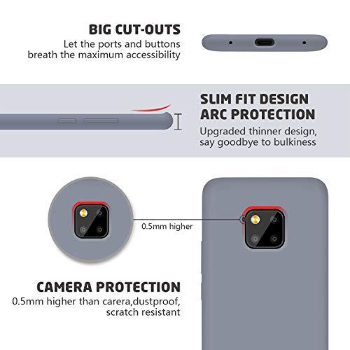 Huawei Mate 20 Pro Hülle Silikon, Abitku Dünn Licht Glatt Stoßfest Schutz Protective Handy Hülle für Huawei Mate 20 Pro (Lavender Gray) - 2