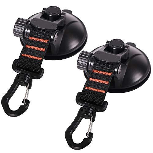 REDCAMP カーサイドタープ タープ 吸盤 フック 強力 車 カーサイドオーニング テント 自動車 荷物 固定 ベルト テント用 カージョイント サンシェード 荷物締めつき 2個入り