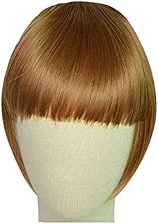 One Piece Of Seamless Hair Extension Women's Synthetic Hair Gold Short Straight Smooth Wig Accessory