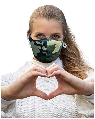 Mundschutz Maske wiederverwendbar, hochwertige Gesichtsmaske, waschbar, multifunktional, Trainingsmaske für Radfahren, Laufen, Staubschutzmaske für Damen, Herren