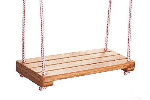 Wooden World Holz Kinder Kinder Schaukel Spielplatz Outdoor Stuhl Seil Garten Patio Türsteher Board braune Farbe