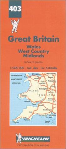 Michelin Karten, Bl.503 : Wales, England Süd-West, Midlands (Michelin Maps)