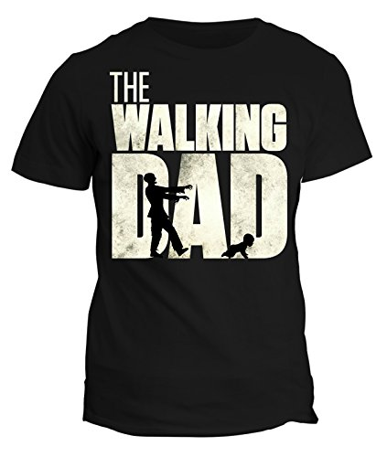fashwork Tshirt Festa del papà -The Walking Dad- Happy Father's Day - in Cotone by