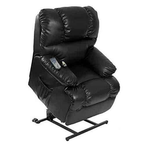 Sillon Relax Irene Fauteuil de massage électrique avec fonction lève-personne Noir