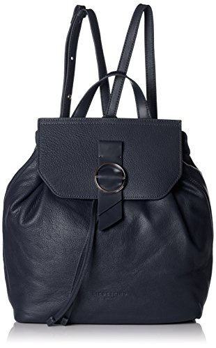 Liebeskind Berlin Damen Backpackm Worldt Rucksackhandtasche, Blau (Navy Blue), 13x27x35 cm