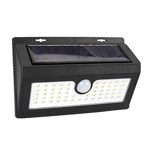 XUENUO zonnelampen voor buiten, 55 LED bewegingsmelder, wandlamp, lichtgewicht, waterdicht, lange levensstraler, geschikt voor voordeur, achtertuin, hek