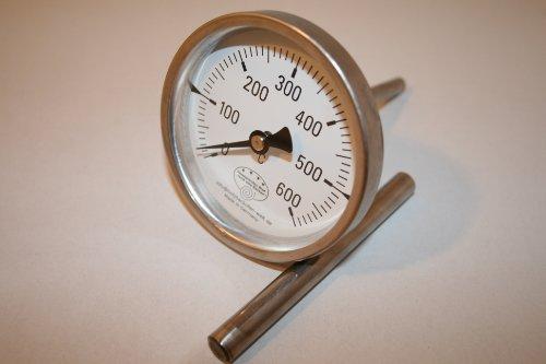 600°C Backofenthermometer Thermometer für Pizzaofen Holzbackofen 400 mm Schaftlänge incl. Führungshülse Edelstahl