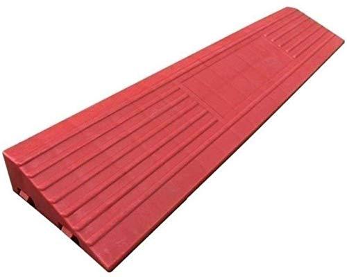 Rampa de Seguridad Rampas Bordillo para Silla de Ruedas para Interiores, portátil Antideslizante Bordillo para Pendiente Patinete Silla de Ruedas Moto Remolque Zona de desaceleración (Color: Rojo,