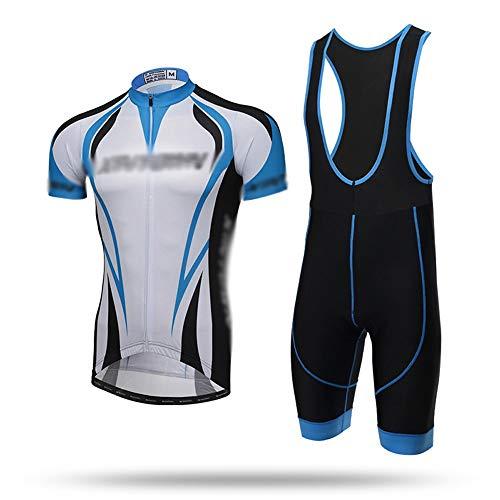 GONGMICF Traje Ciclismo,Maillot Ciclismo Corto De Verano para Hombre,Jersey + Correa Pantalones...