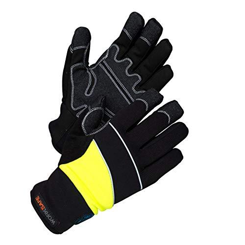 Worksafe Arbeitshandschuhe Winter, wasserdicht, warm gefüttert, A80-537W – 1 Paar, Gr.9=L, gelb/schwarz