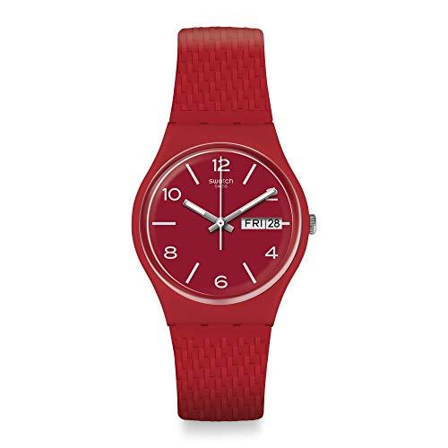 Swatch Reloj Analógico para Unisex Adultos de Cuarzo con Correa en Silicona GR710