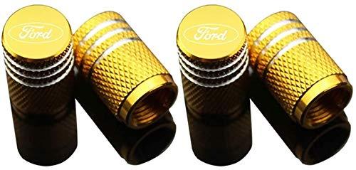 Ventilkappen aus Aluminium für Fords Focus 2 3 1 MK2 MK3 MK1 Fusion Reifen ventilkappen,Luftventilkappen KFZ,...
