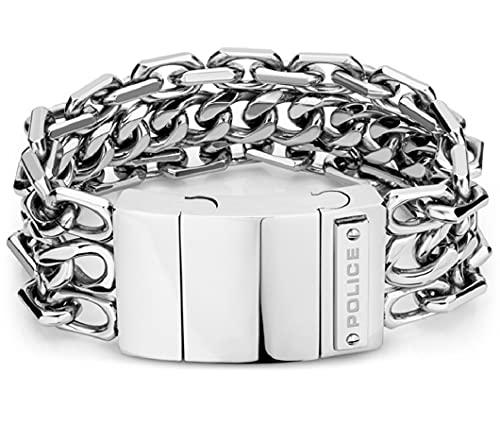 Pulsera Chainmail Police Hombre | Diseño triple cadena | Acero Inoxidable PEJGB2112602