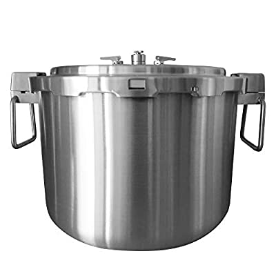 Buffalo QCP435 37-Quart Stainless Steel Cooker [Commercial series]-Pressure Gauge EXCLUDED