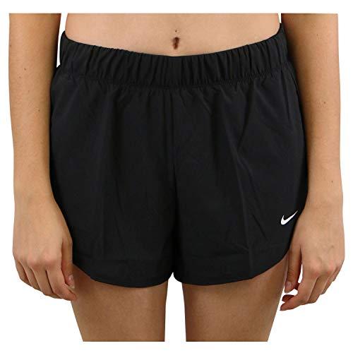 Nike Flex, Pantaloncini da allenamento 2 in 1 Donna, Nero (Black/Black/White), XL