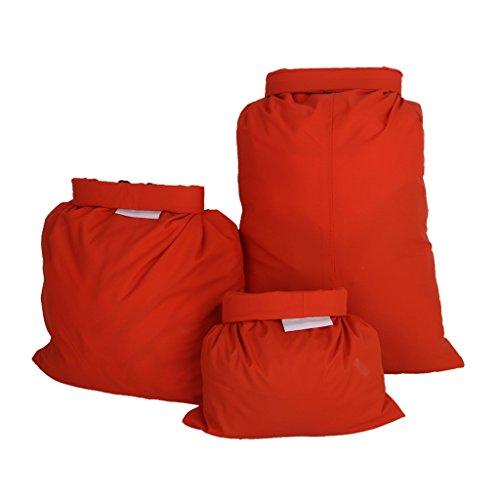 SM SunniMix 3 stycken vattentät packpåse, orange rulle topp kompression torr påse för paddling båtliv segling forsränning flodspårning eller utomhus vandring