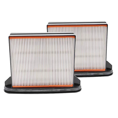 vhbw 2x filtro de aspirador para Spit AC1600, AC1625, AC1630P, AC1630PM aspirador robot aspirador multiusos filtro plisado plano/húmedo/Hepa