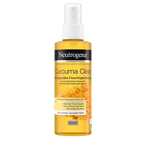 Neutrogena Curcuma Clear Beruhigendes Feuchtigkeitsspray, Body Spray, Unreine und sensible Haut, 125 ml