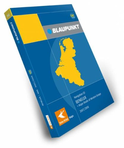 Teleatlas Blaupunkt Navigation CD Benelux + Hauptstraßen Westeuropas 2007/2008 DX