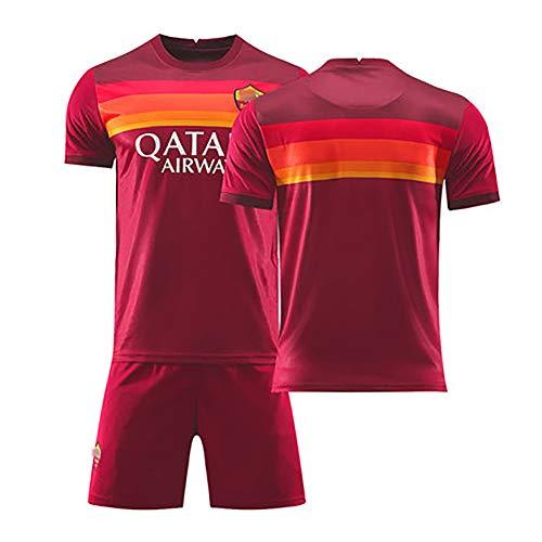 Für Florenzi 24# Dzeko 9# nainggolan 4# Totti 10# De Rossi 16#, 20-21 Herren Fußballuniform, Kinder Sommer Fußball Sportbekleidung, blank-M(170~175cm)
