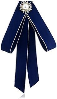 CBCJU Exquisito Broche de Tela de Perlas con Broche de Lazo Nudo 19 * 12cm
