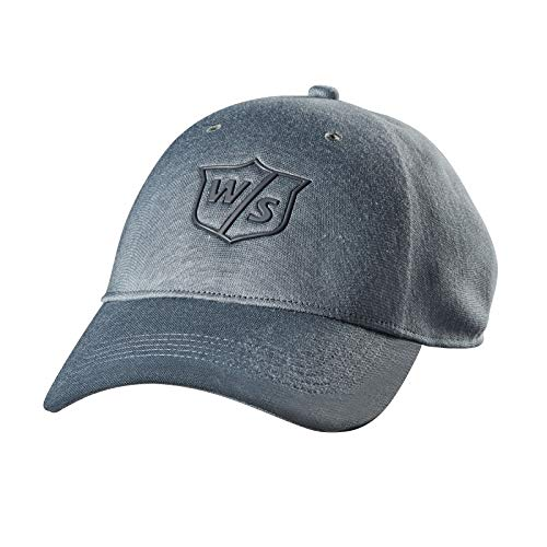Wilson Golf Gorra W/S One Touch, Para Hombre, Gris Claro, Algodón, Talla Ajustable, WGH594LGY
