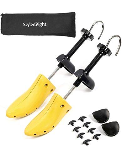 StyledRight Unisex 2-Way Shoe Stretcher For Men & Women - Shoe Widener Stretch Length & Wide Feet (Large)