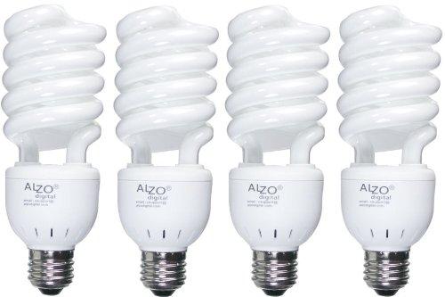 ALZO 27W Joyous Light Full Spectrum CFL Light Bulb 5500K, 1300 Lumens, 120V, Pack of 4, Daylight White Light