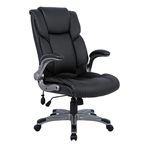 Statesville Big & Tall 400lbs Office Chair - Adjustable Tilt Angle Executive Computer Desk Chair, Thick Padding for Comfort and Ergonomic Design for Lumbar Support