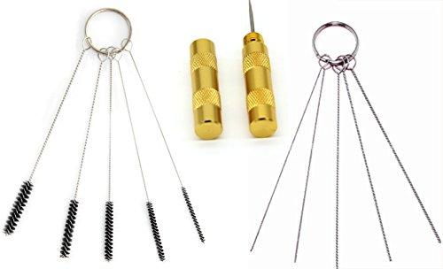TOPTOMMY エアブラシアクセサリー エアブラシクリーニング修理ツールキット エアブラシ針 ブラシセット スプレーガンツール 3セット