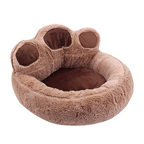 Yowablo Hundematte Hundedecke Haustierdecke Katzendecke Hundkissen Kuscheldecke Hunde Hundematratze Haustierdecke Hund Schlafmatte Katze Schlafmatte Katze Decken (40 * 45cm,Braun)