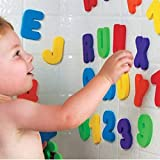 BAIVYLE Bath Toys Foam Fun Alphabet Letters and Numbers-Floating Toy 36 PCS ABC for Bathtub Educational Kids Children Boys Girls.Toddler Bath TIME Fun-Makes Clean Up Easy as They Drip Dry in The Tub