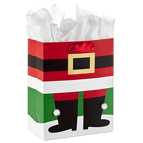 Hallmark 9' Medium Christmas Gift Bag with Tissue Paper (Santa Boots)
