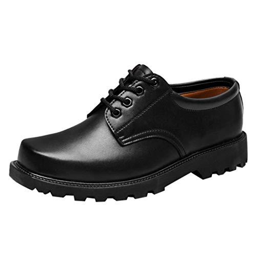 Zapatos de Seguridad de Piel Hombre Zapatos Oxford Vestir Negocios Formal Calzado...