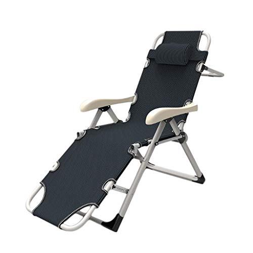 WYH silla de salón robusta balcón hogar silla plegable oficina almuerzo silla siesta silla perezosa silla playa sofá resistencia a la presión