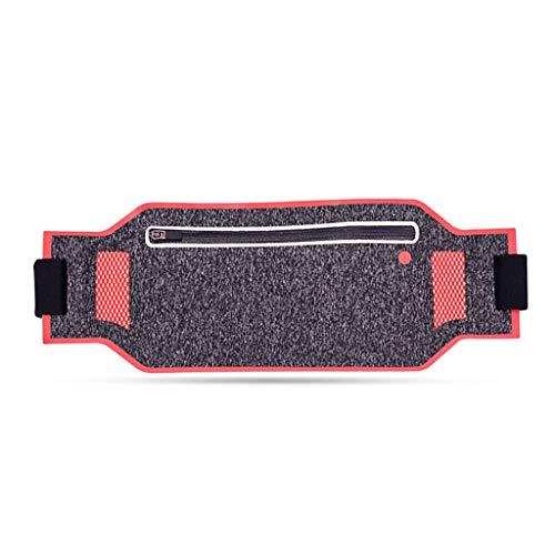 TcooLPE Lauftasche for Läufer Beste Fitnessausrüstung for Hände Frei Training Reflektierende Hüfttasche Handyhalter Männer Frauen Kinder Laufen Zubehör (Color : D)