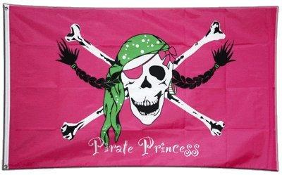 Flagge Pirat Pirate Princess Prinzessin - 90 x 150 cm