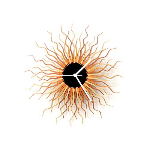16' Contemporary Handmade Sunburst Wall Clock in Shades of...