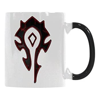 World Of Warcraft Horde Coffee Mug - Funny Quote Mug Morphing Changing Color Heat Reveal coffee Tea Cup (11oz)