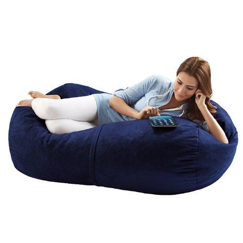 Jaxx Bean Bags Sofa Saxx Lounger, 4-Feet, Navy Microsuede