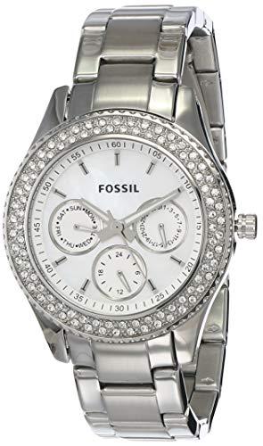 Fossil Damen Analog Quarz Uhr mit Edelstahl Armband ES2860