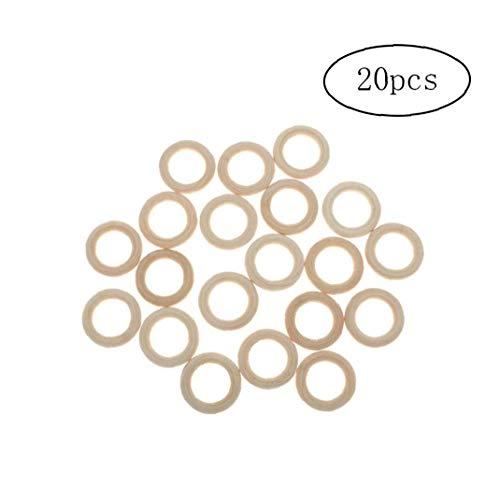 shentaotao Ringförmige Holz Linking Ringe Natur Blank Ausschnitt Runder Holz-Ring Schleife Craft-Kreis-Ring-hängende Charme-anschlüsse Schmucksachen, Die 20pcs