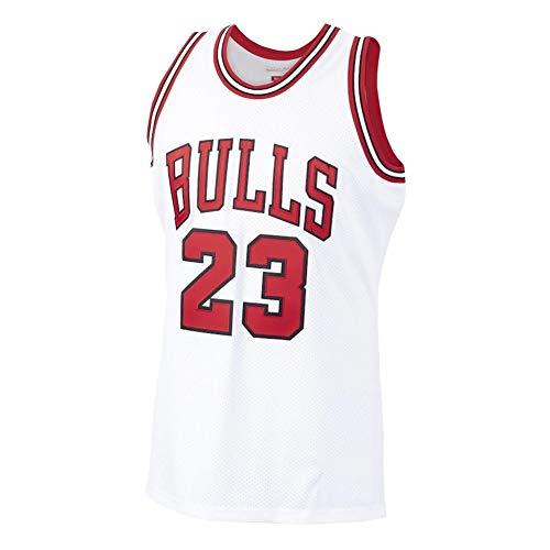 Michael Jordan #23, Camiseta De Baloncesto NBA para Hombre, Retro Jersey Swingman Basketball Camisetas, Chaleco De Gimnasia Top Deportivo Ropa, S-XXL, Z485MK (Color : White, Size : S)