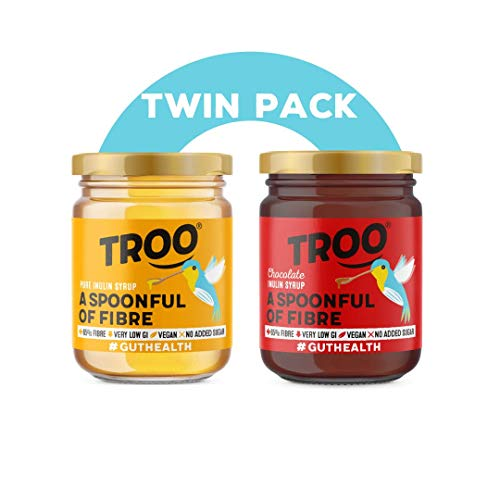 Troo Spoonful of Fibre | Pure and Chocolate Inulin Syrup | Gut Healthy Goodness | High Fibre | Low Sugar | Lower Carb | Fat Free | Vegan | Keto | 227G | Twin Pack