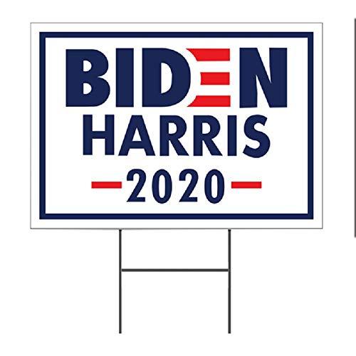 JGDD 2020 Biden Harris, Gran Cartel De Plástico Corrugado para Patio con Marco En H, Letrero De Doble Cara para Exteriores, Resistente a La Intemperie, para Campaña Política H