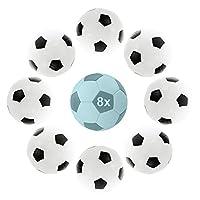 Großes Set: Im Set enthalten sind 8 Bälle in den klassischen Farben Schwarz & Weiß für den Tischkicker bzw. Tischfußball. Das 8-teilige Set eignet sich ideal als Ersatz für Ihre Ausrüstung. Premium Qualität: Die Kickerbälle sind hochwertig und rollen...