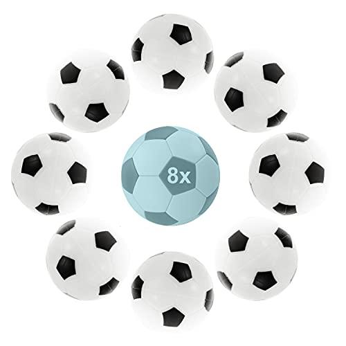 L + H WORLD 8X Profi Tischkickerbälle im Set | Hochwertige & leise Tischkickerbälle in 35mm | perfekt für Tischfußball & Tischkicker | Tischkicker-Bälle Profi