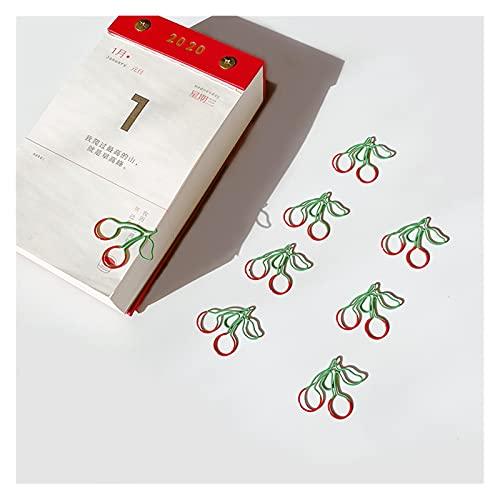 xuyang 25 unids/caja Kawaii Cherry Metal Paper Clip Decorativo Marcadores Carpeta Clips Escuela Oficina Papelería