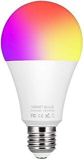 Donpow Bombilla de luz inteligente LED, 10W 900LM RGBCW Colabora E27 Inteligente Regulable de RGB Compatible con Alexa Echo, Google Home Assistant