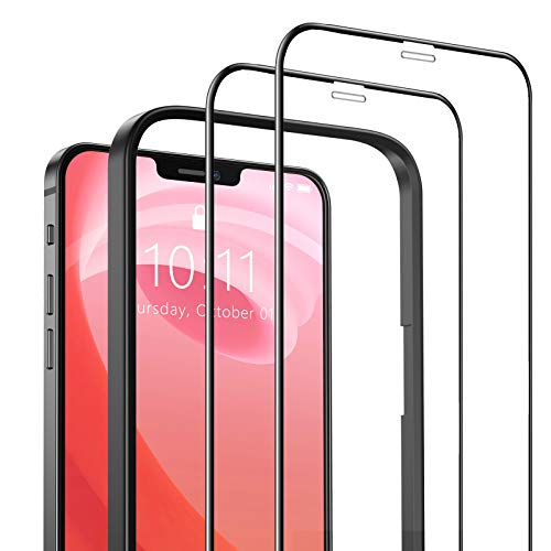 SAEYON [2 Piezas] Protector de Pantalla para Apple iPhone 12 Pro Max, 3D Cobertura Completa Cristal Vidrio Templado para 6,7 Pulgadas Apple iPhone 12 Pro Max con Kit de Instalación, 6,7'', Negro